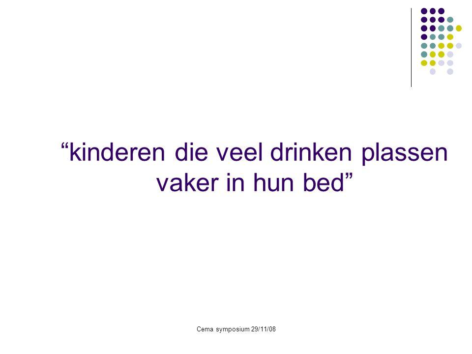 kinderen die veel drinken plassen vaker in hun bed