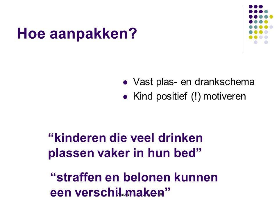 Hoe aanpakken kinderen die veel drinken plassen vaker in hun bed