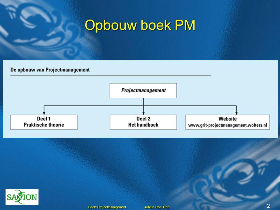 Opbouw boek PM