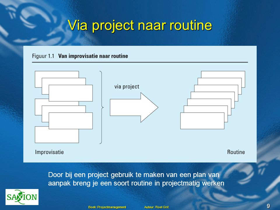 Via project naar routine