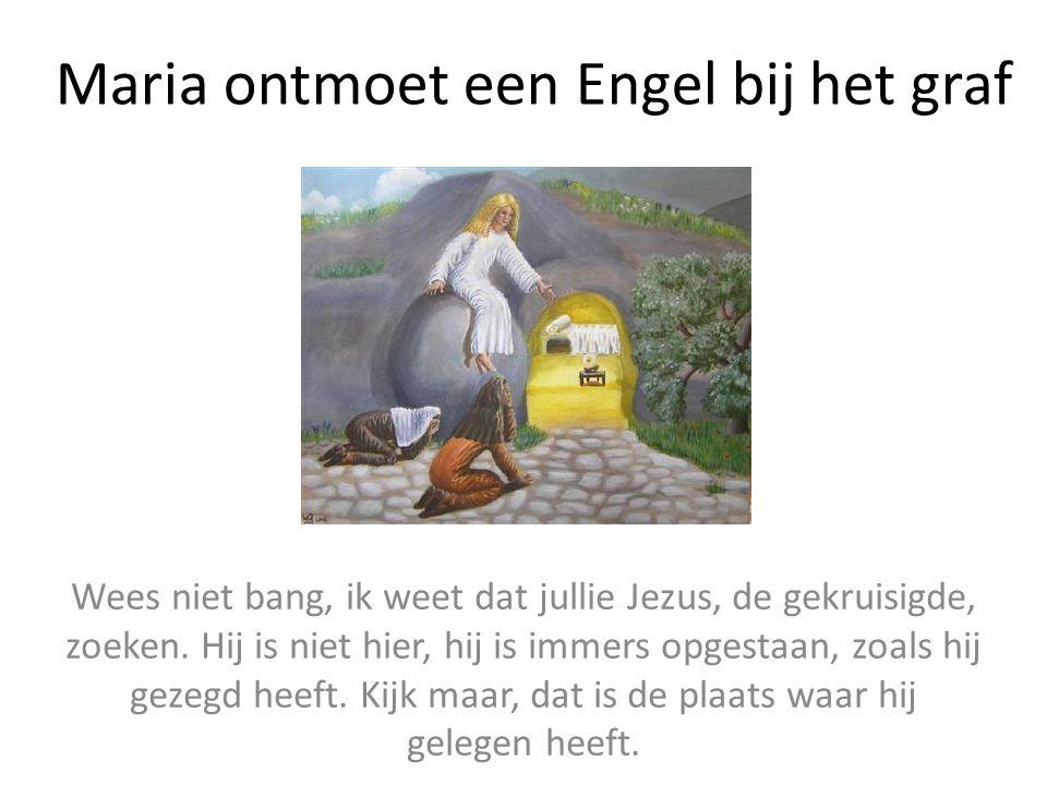 Maria ontmoet een Engel bij het graf