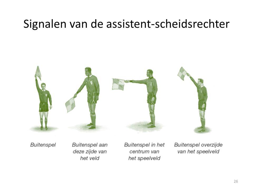 Signalen van de assistent-scheidsrechter