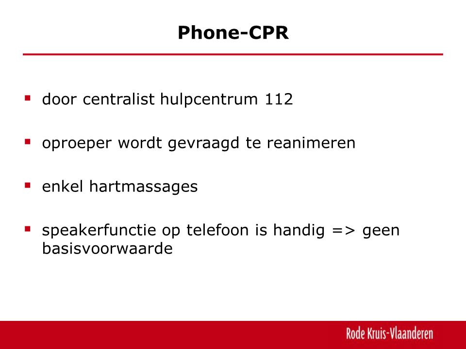 Phone-CPR door centralist hulpcentrum 112