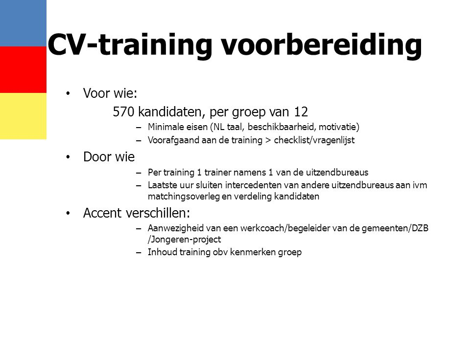 CV-training voorbereiding