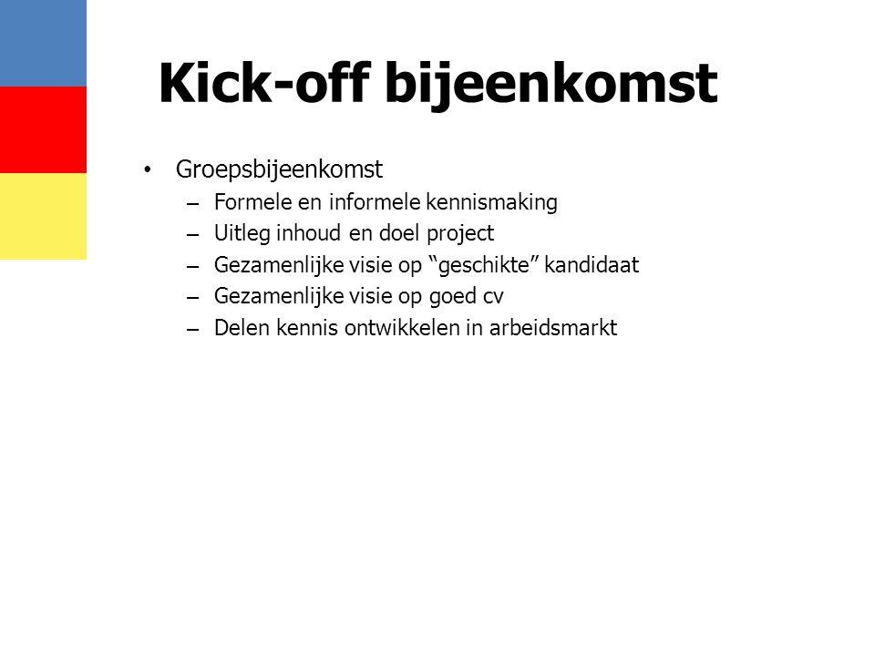 Kick-off bijeenkomst Groepsbijeenkomst