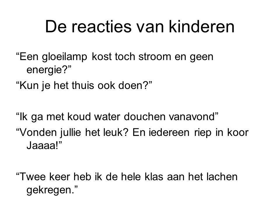 De reacties van kinderen