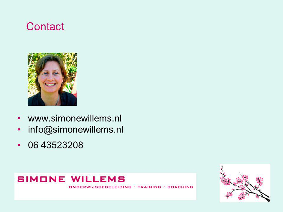 Contact www.simonewillems.nl info@simonewillems.nl 06 43523208