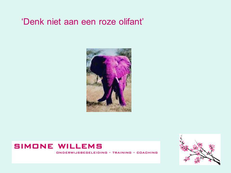 'Denk niet aan een roze olifant'