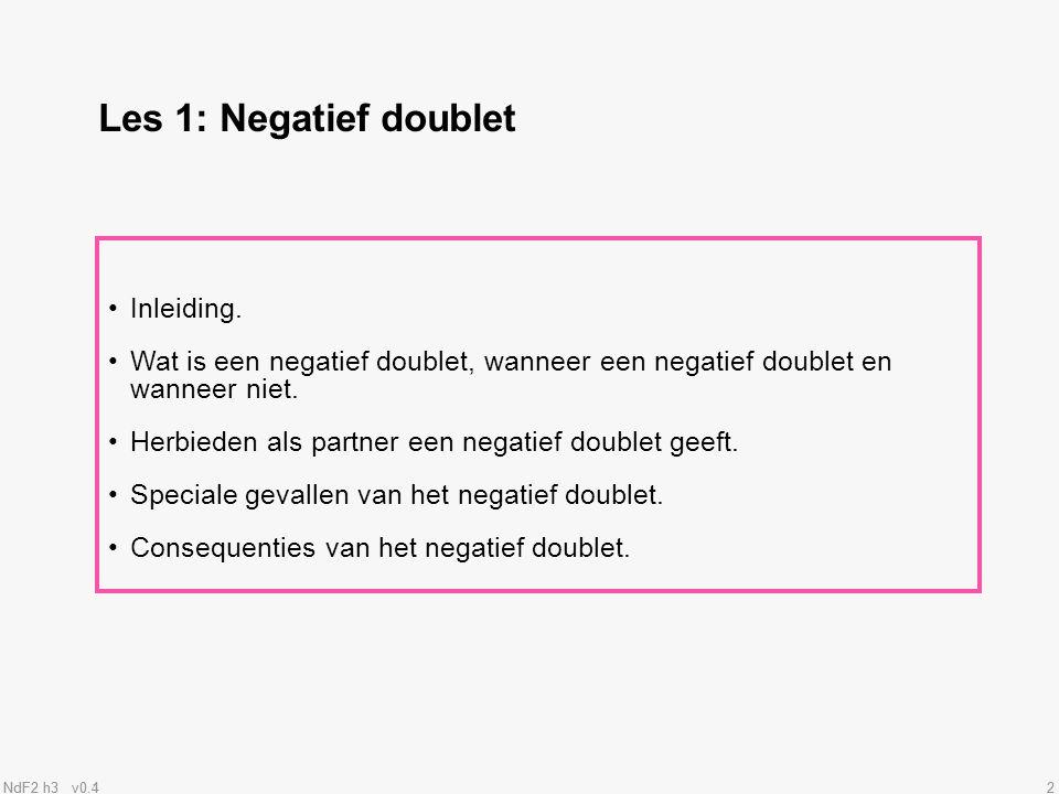 Les 1: Negatief doublet Inleiding.