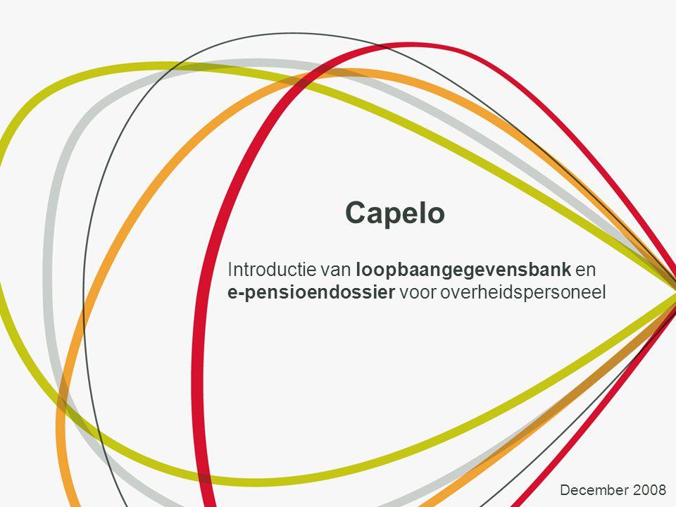 Capelo Introductie van loopbaangegevensbank en e-pensioendossier voor overheidspersoneel