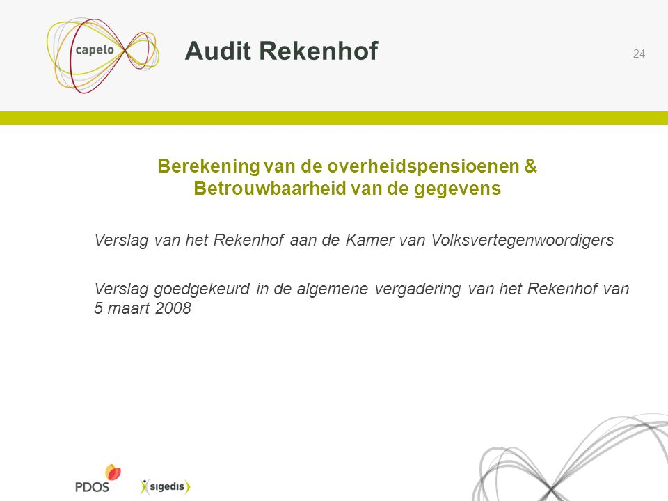 Audit Rekenhof Berekening van de overheidspensioenen &