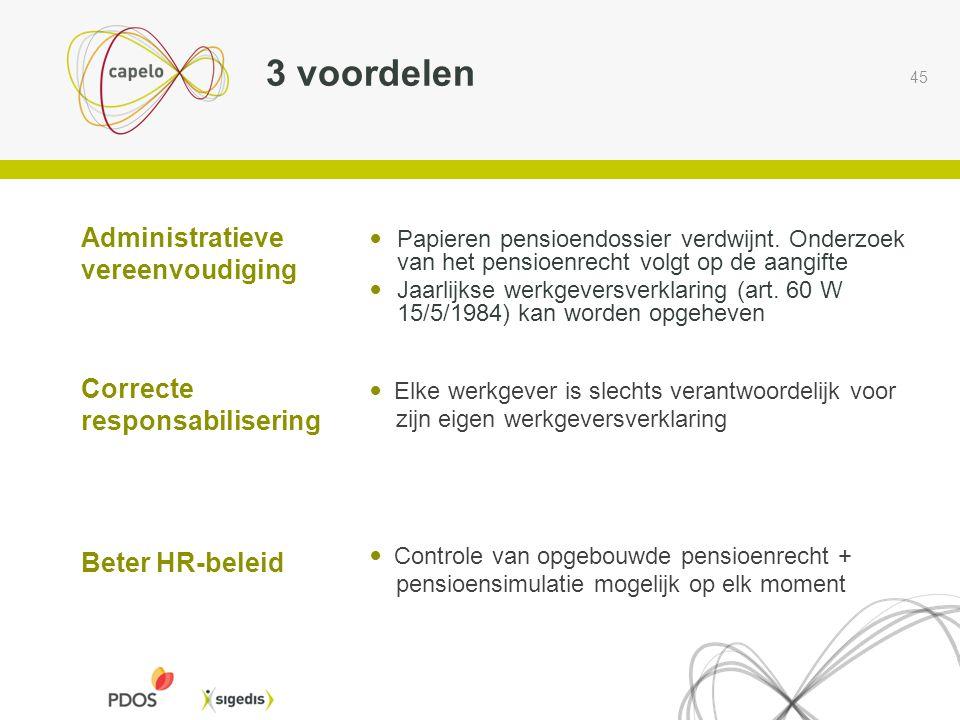 3 voordelen Administratieve vereenvoudiging