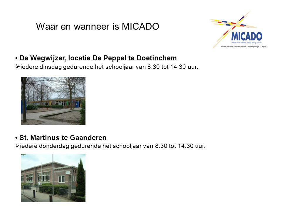 Waar en wanneer is MICADO