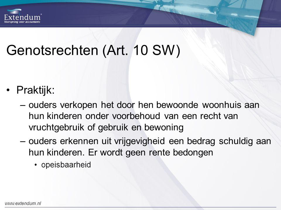 Genotsrechten (Art. 10 SW)