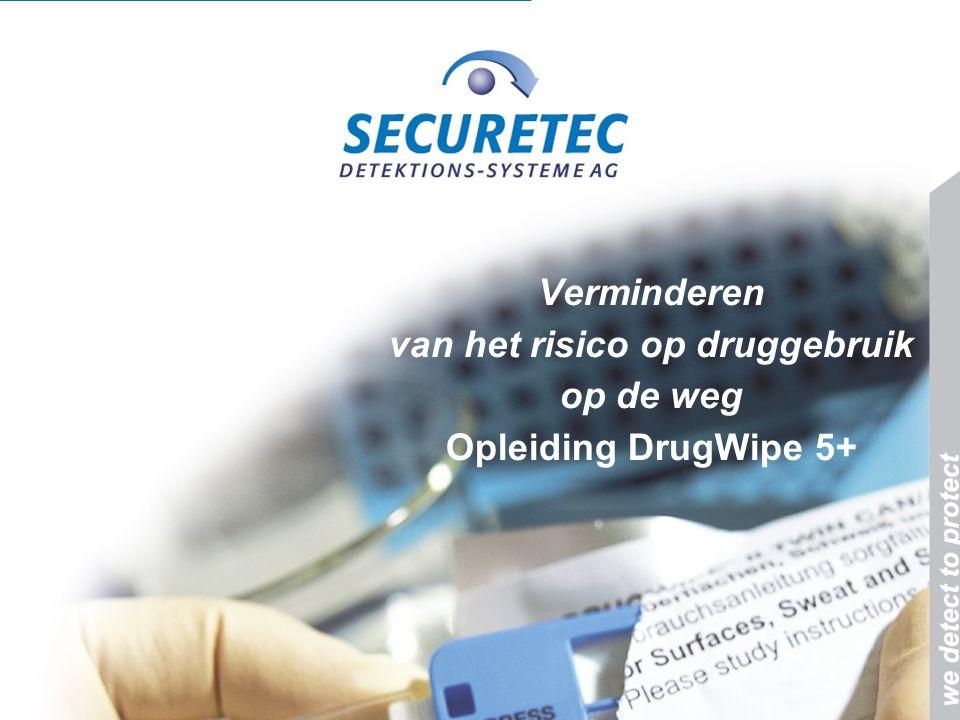 Verminderen van het risico op druggebruik op de weg Opleiding DrugWipe 5+