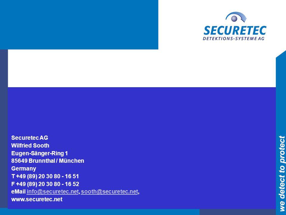 Securetec AG Wilfried Sooth. Eugen-Sänger-Ring 1. 85649 Brunnthal / München. Germany. T +49 (89) 20 30 80 - 16 51.