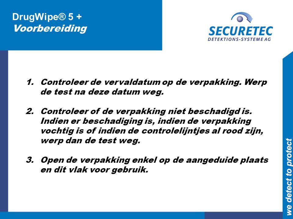 DrugWipe® 5 + Voorbereiding