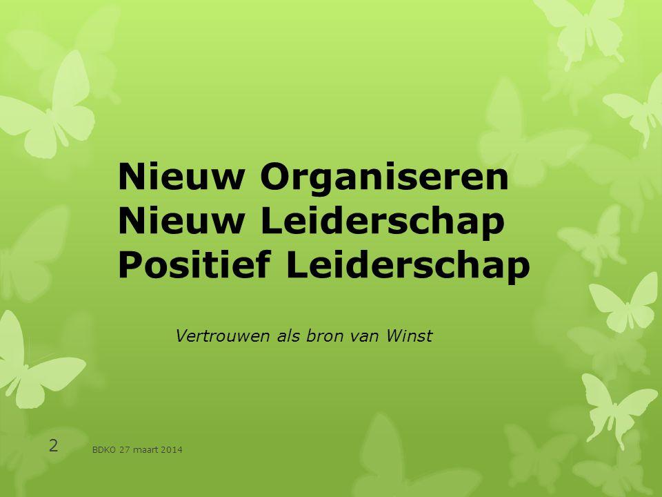 Nieuw Organiseren Nieuw Leiderschap Positief Leiderschap