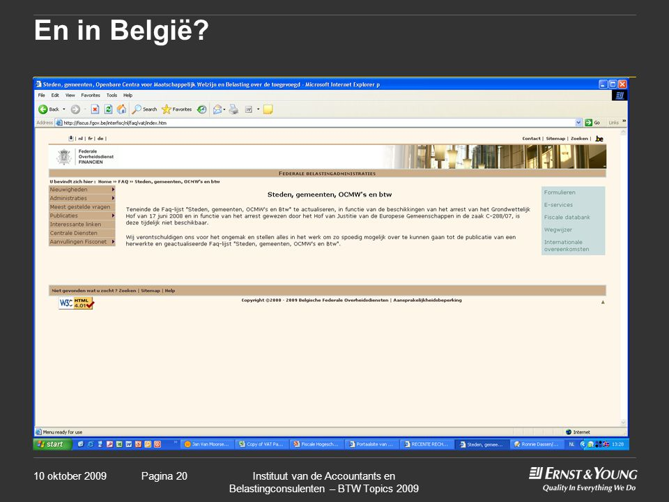 En in België