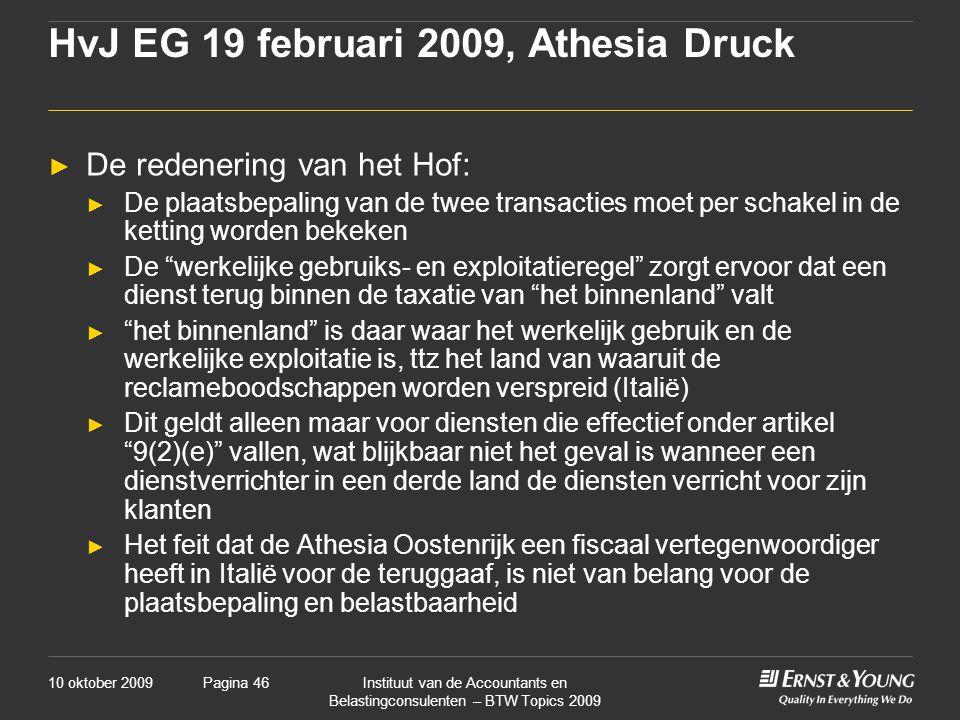 HvJ EG 19 februari 2009, Athesia Druck