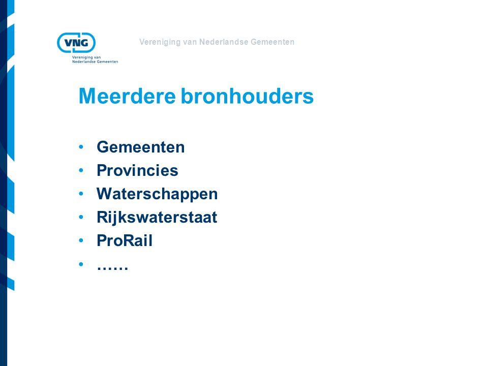 Meerdere bronhouders Gemeenten Provincies Waterschappen