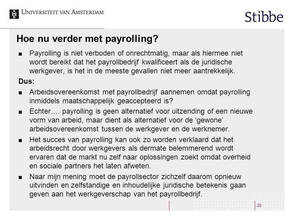 Hoe nu verder met payrolling