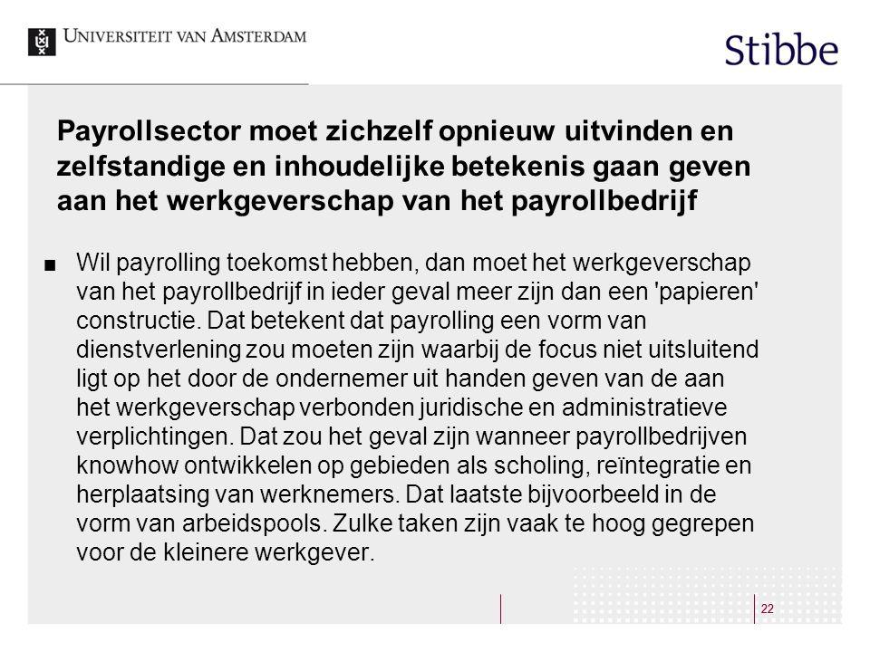 Payrollsector moet zichzelf opnieuw uitvinden en zelfstandige en inhoudelijke betekenis gaan geven aan het werkgeverschap van het payrollbedrijf