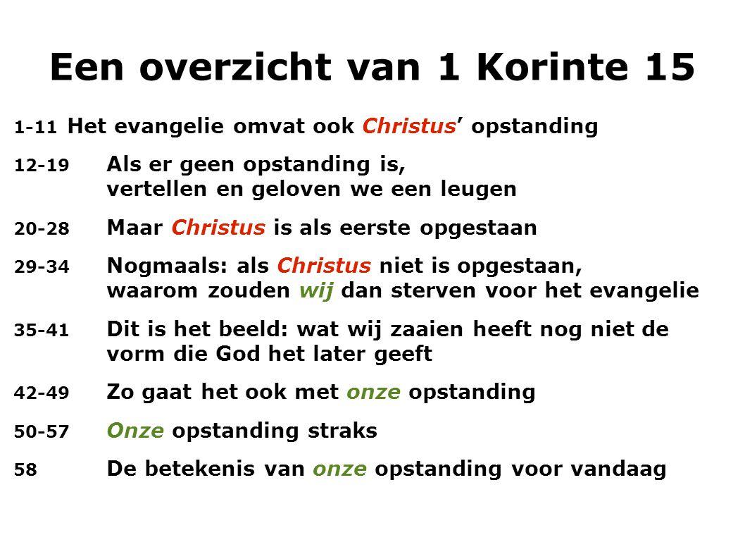 Een overzicht van 1 Korinte 15