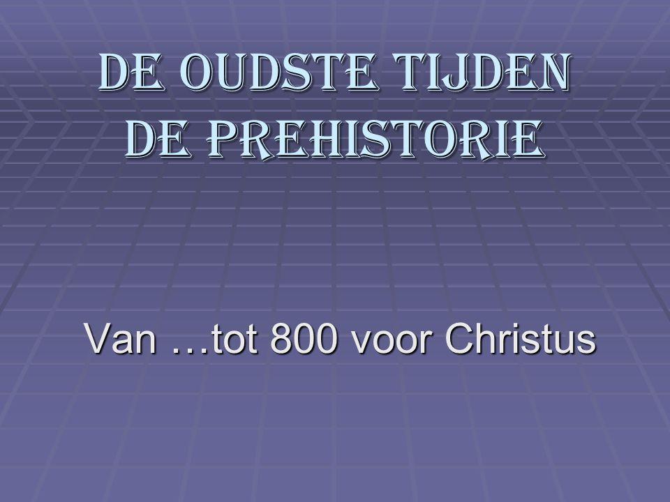 De oudste tijden De prehistorie
