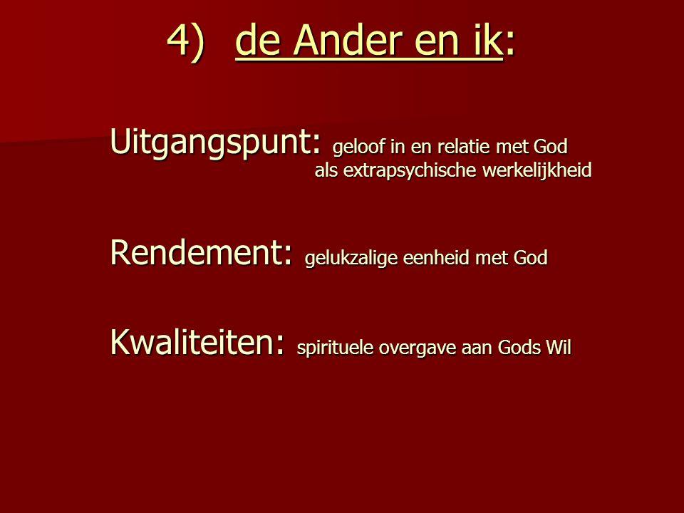 4) de Ander en ik: Rendement: gelukzalige eenheid met God