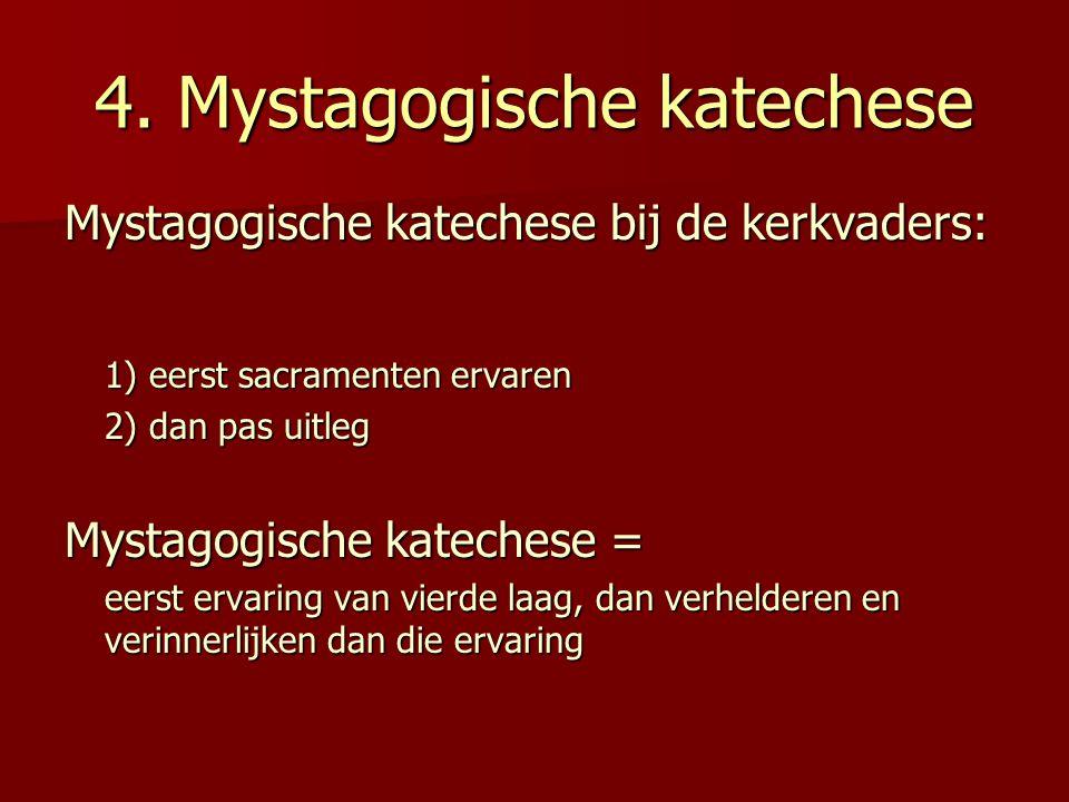 4. Mystagogische katechese
