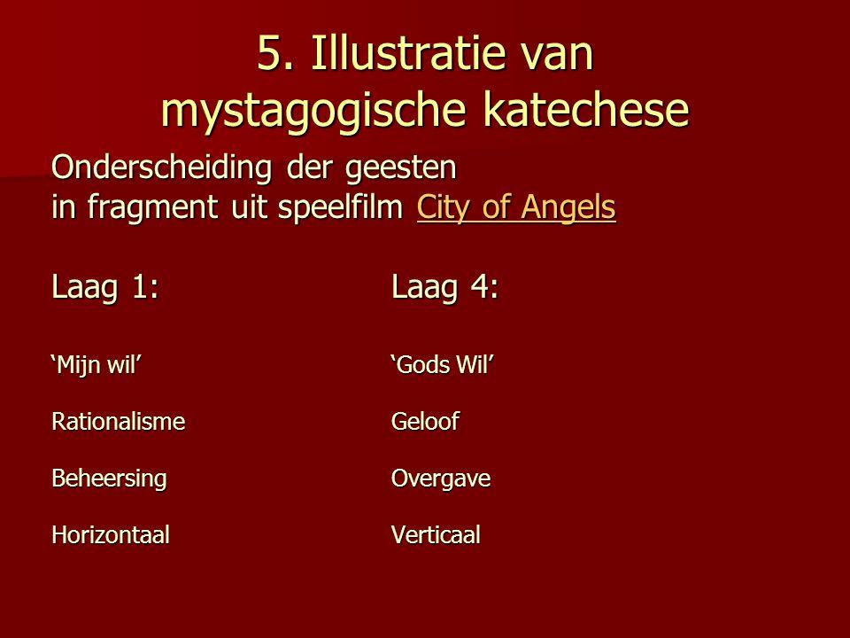 5. Illustratie van mystagogische katechese