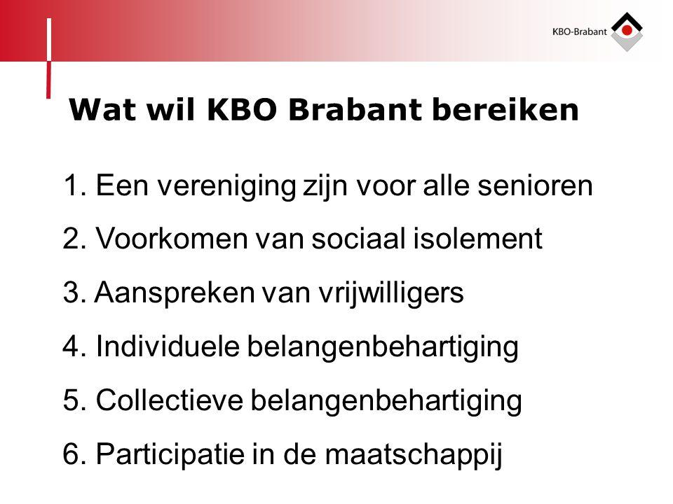 Wat wil KBO Brabant bereiken