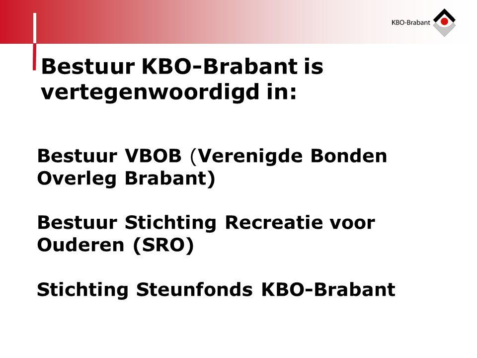 vertegenwoordigd in: Bestuur VBOB (Verenigde Bonden Overleg Brabant)