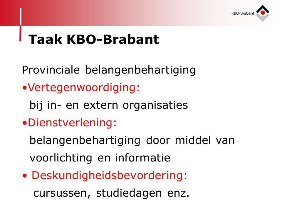 Taak KBO-Brabant Provinciale belangenbehartiging