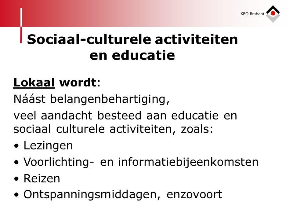Sociaal-culturele activiteiten en educatie