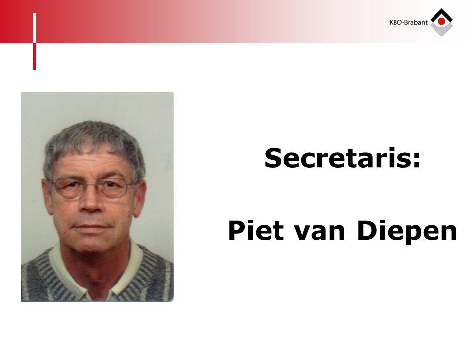 Secretaris: Piet van Diepen