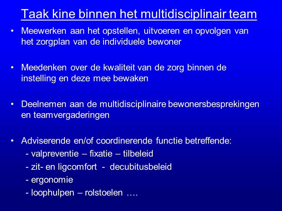 Taak kine binnen het multidisciplinair team