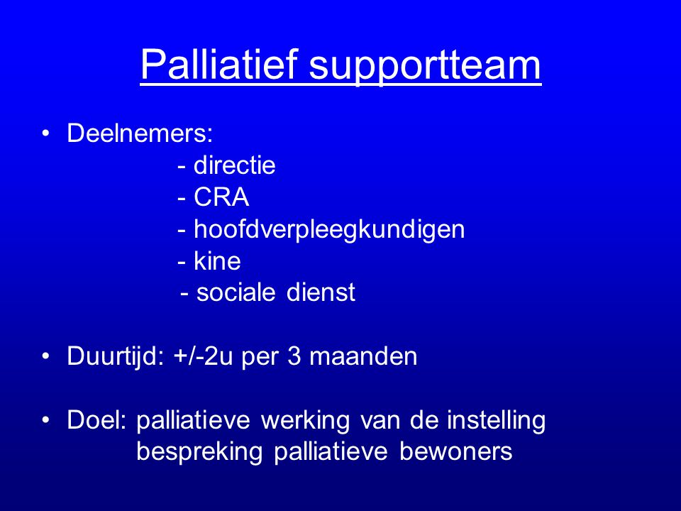 Palliatief supportteam