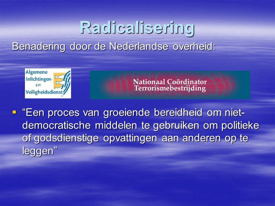 Radicalisering Benadering door de Nederlandse overheid: