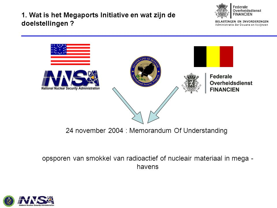 24 november 2004 : Memorandum Of Understanding
