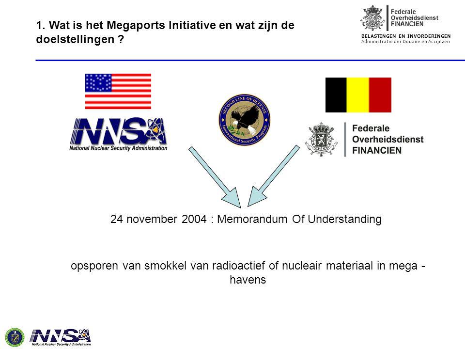 24 november 2004 : Memorandum Of Understanding