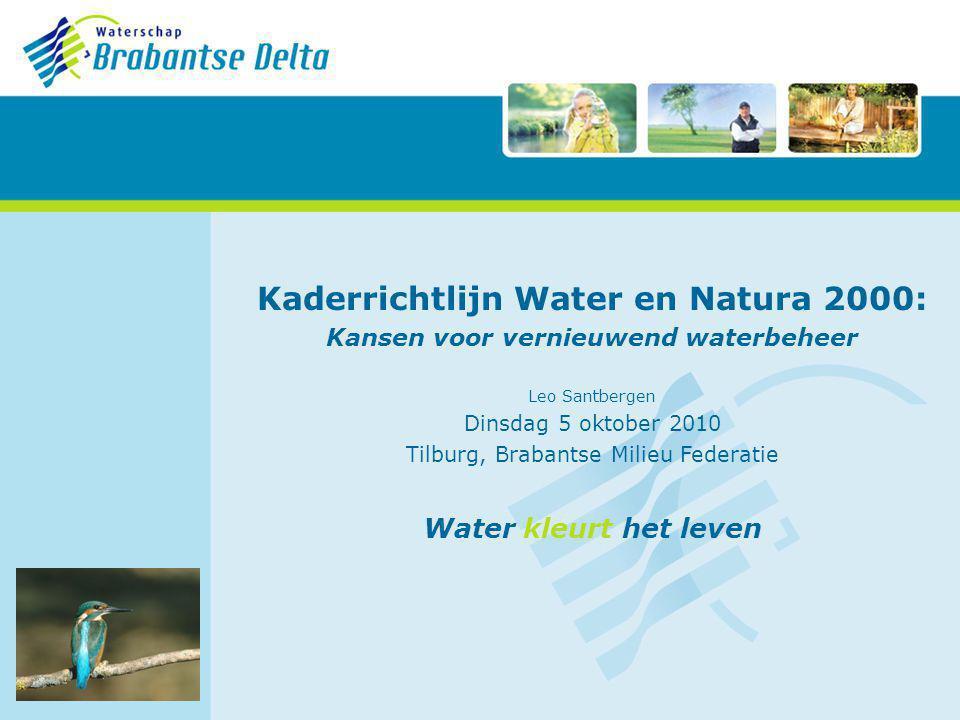 Kaderrichtlijn Water en Natura 2000: