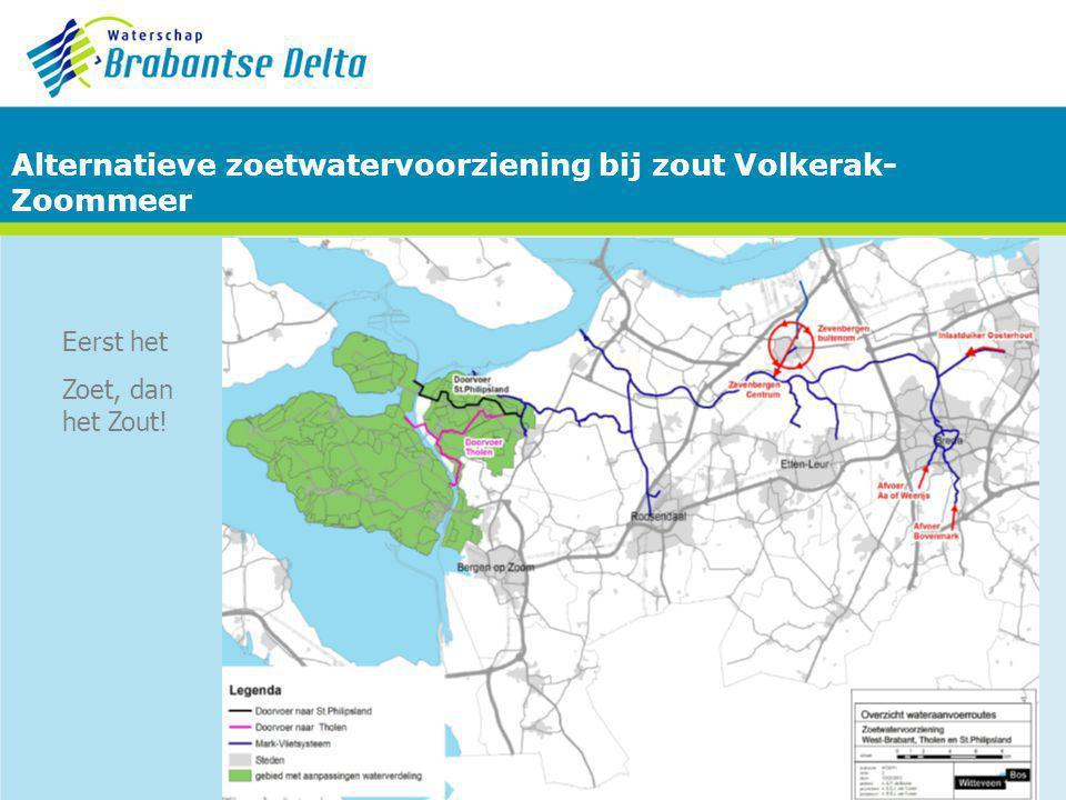 Alternatieve zoetwatervoorziening bij zout Volkerak-Zoommeer
