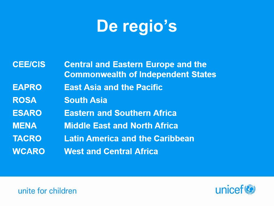 De regio's CEE/CIS. Central and Eastern Europe and the Commonwealth of Independent States. EAPRO.
