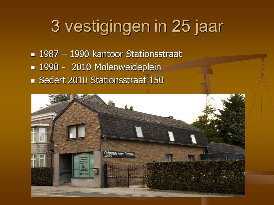 3 vestigingen in 25 jaar 1987 – 1990 kantoor Stationsstraat