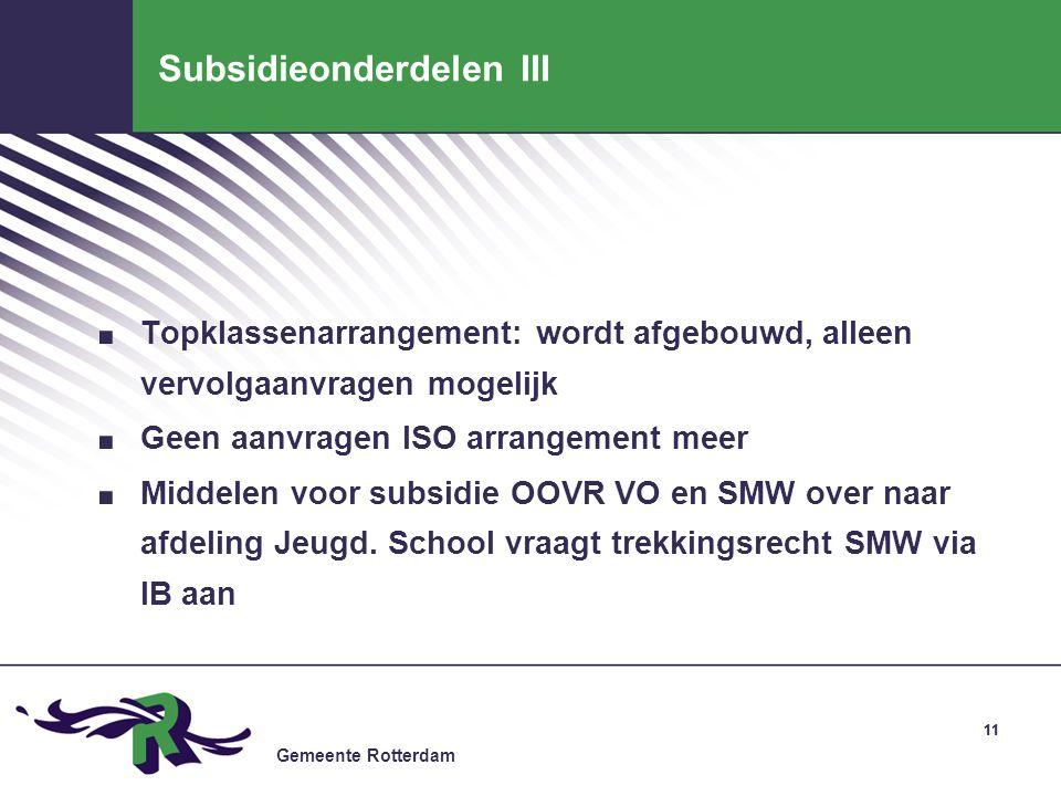 Subsidieonderdelen III
