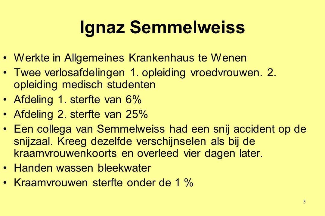 Ignaz Semmelweiss Werkte in Allgemeines Krankenhaus te Wenen