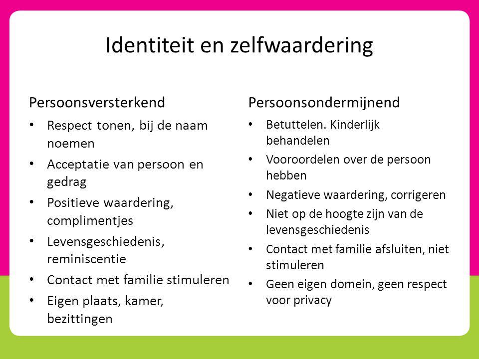 Identiteit en zelfwaardering