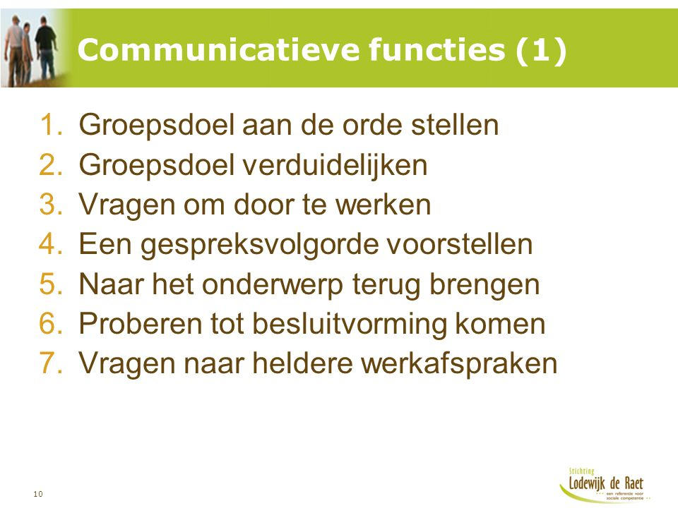 Communicatieve functies (1)